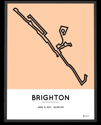 2017 Brighton marathon course poster