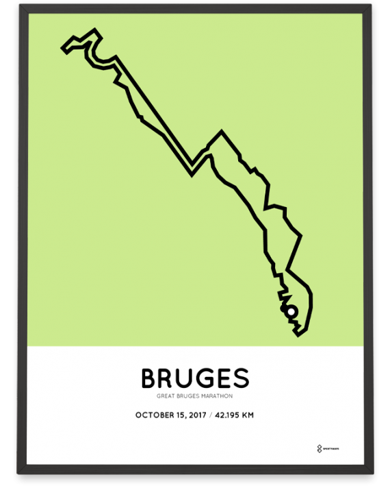 2017 Great Bruges marathon route poster