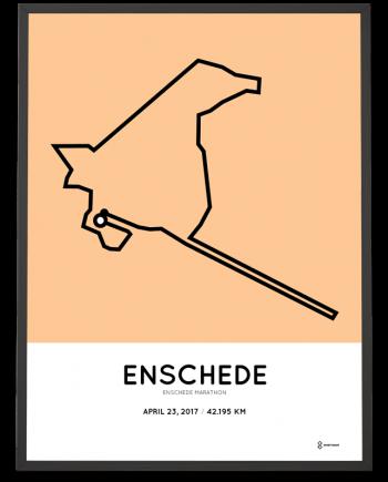 2017 Enschede marathon parcours poster