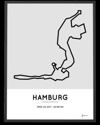 2017 Hamburg marathon course art print
