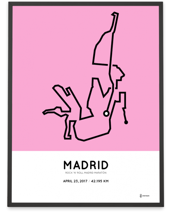 2017 Madrid maraton course poster