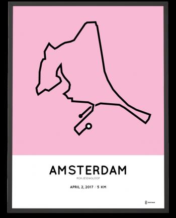 2017 Amsterdam Rokjesdagloop 5km route poster