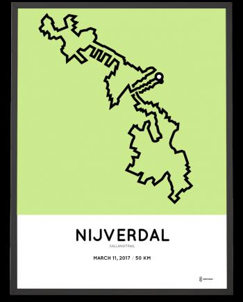 2017 Sallandtrail parcours poster