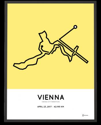 2017 Vienna city marathon course poster