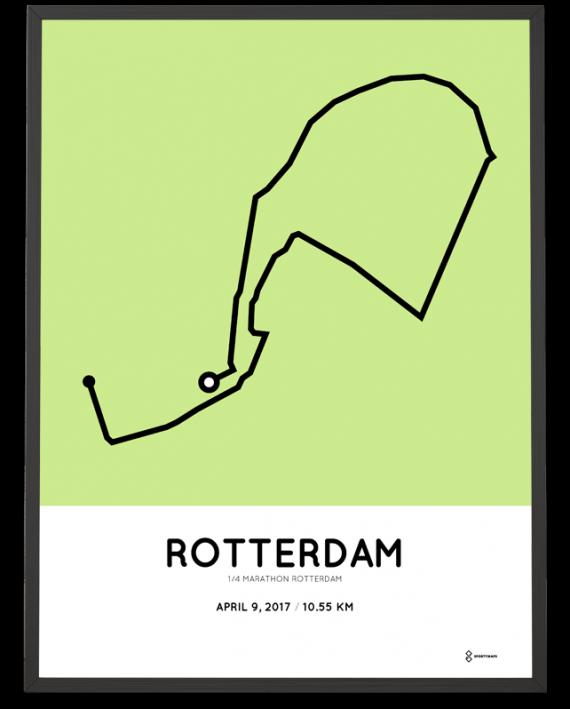 2017 rotterdam kwart marathon route poster