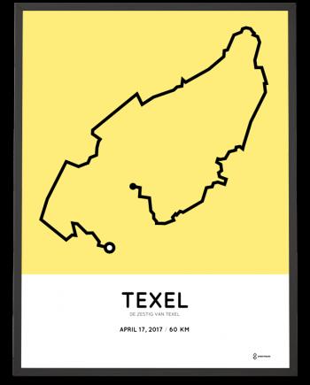 2017 De Zestig van Texel route poster