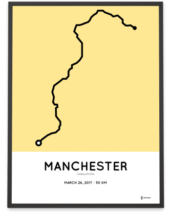 2017 Canalathon 50km course poster