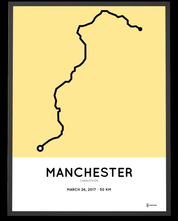 2017 Canalathon 50km course poster