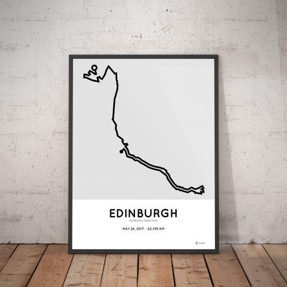 2017 Edinburgh marathon course print