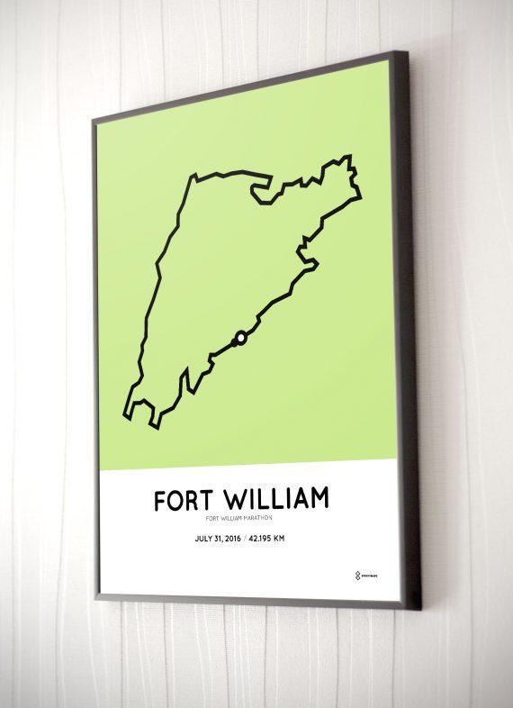 2016 Fort William marathon course poster