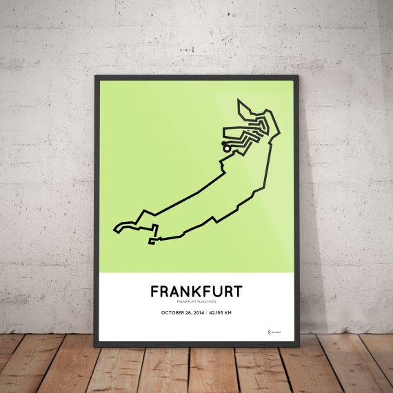 2014 Frankfurt marathon routemap poster