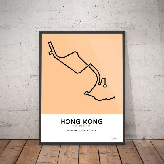 2017 Hong Kong marathon course poster