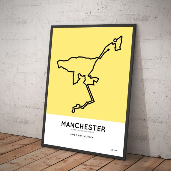 2017 Manchester greater marathon route poster