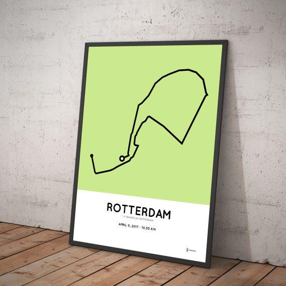2017 kwart marathon Rotterdam course print