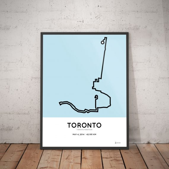 2014 Toronto marathon route poster