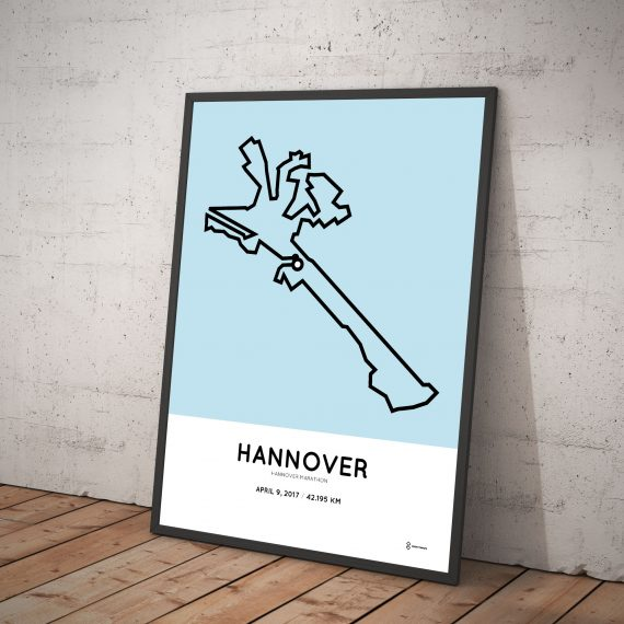 2017 hannover marathon course poster