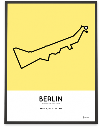 2012 Berlin half marathon course poster