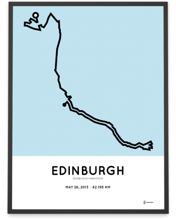 2013 Edinburgh marathon course poster