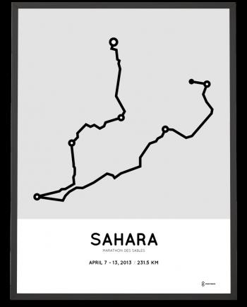 2013 marathon des sables course poster