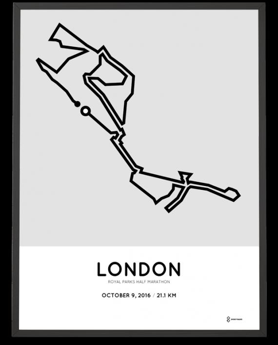 2016 Royal Parks half marathon course poster