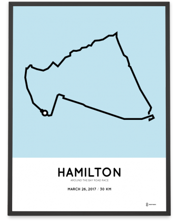 2017 Around the bay road race course poster