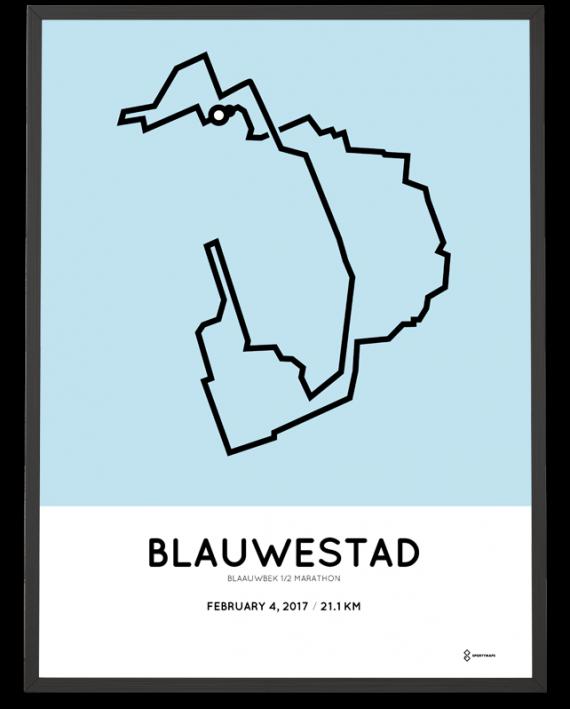 2017 Blaauwbek halve marathon route poster