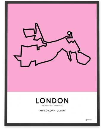 2017 Hackney half marathon course print
