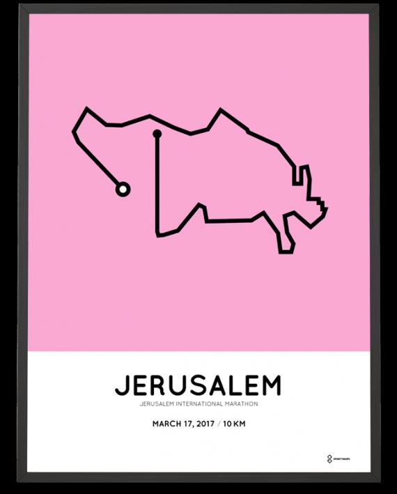 2017 Jerusalem 10km course poster