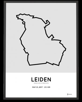 2017 Leiden half marathon parcours poster
