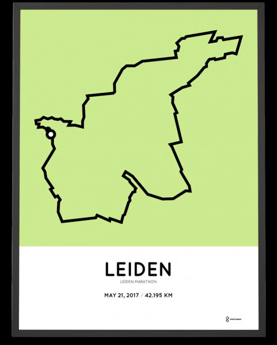 2017 Leiden marathon route print