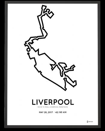 2017 Liverpool marathon course poster