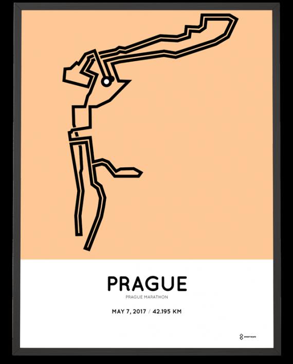 2017 Prague marathon course poster