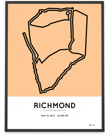 2017 Richmond park marathon course print