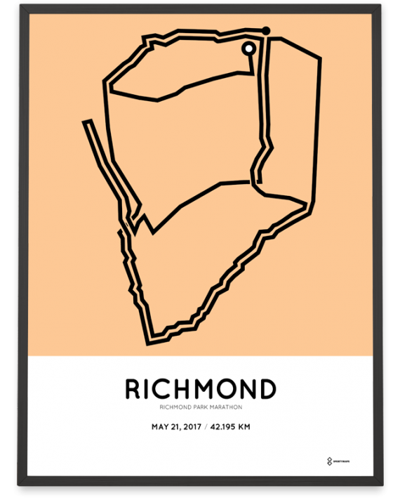 2017 Richmond park marathon course print