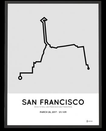 2017 San Francisco half marathon course poster