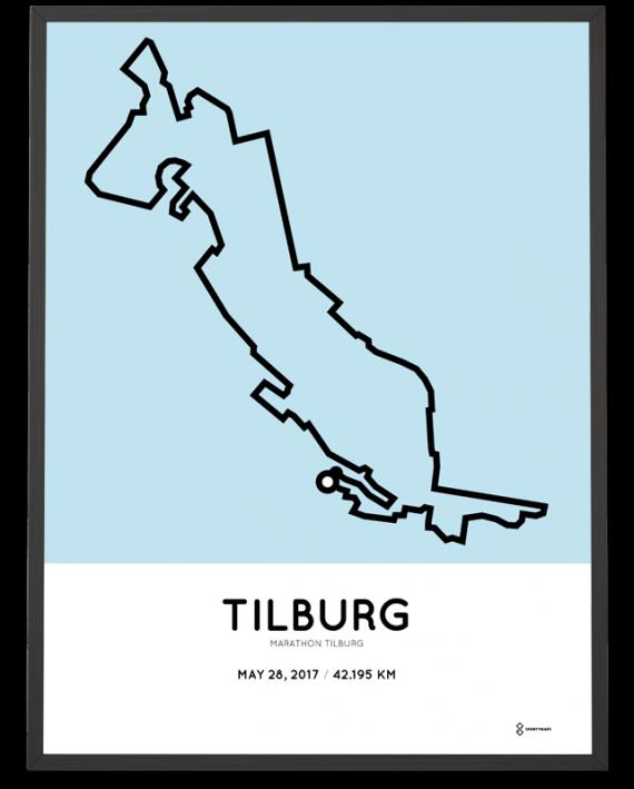 2017 Marathon Tilburg parcours poster print