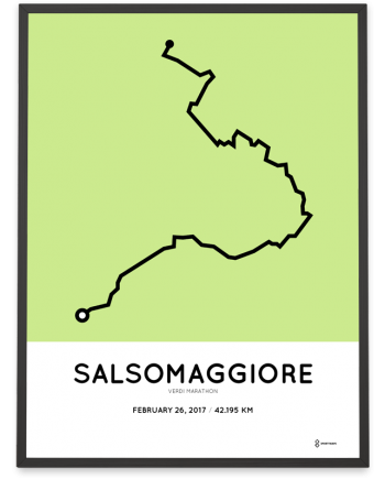 2017 Verdi marathon course poster