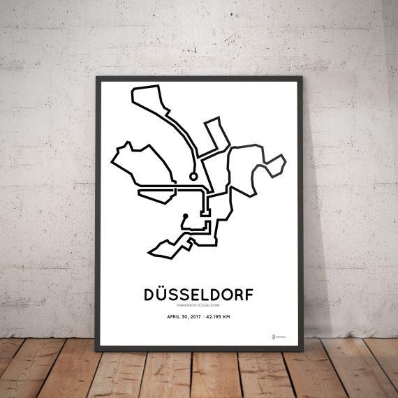 2017 Dusseldorf marathon strecke poster