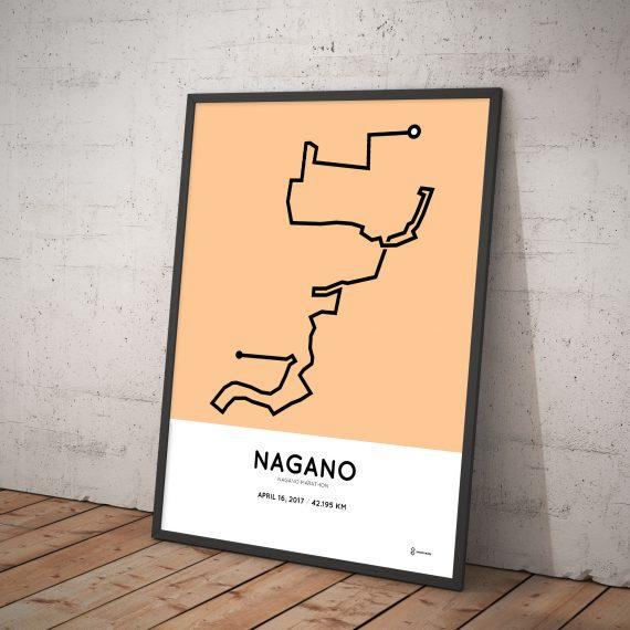 2017 Nagano marathon course print