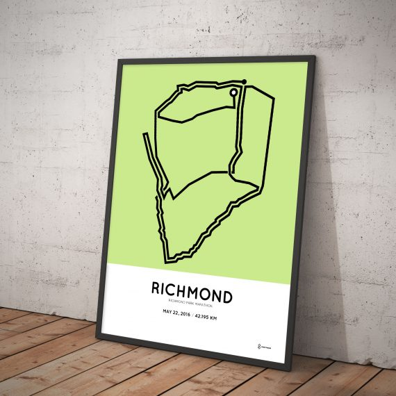 2016 Richmond Park marathon course poster