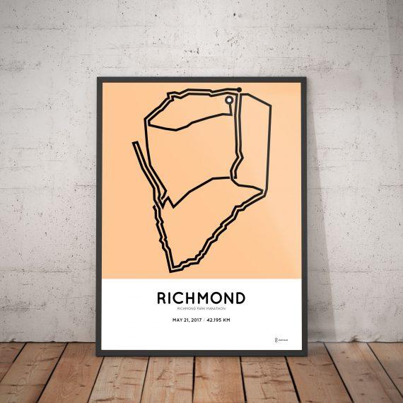 2017 Richmond park marathon route poster