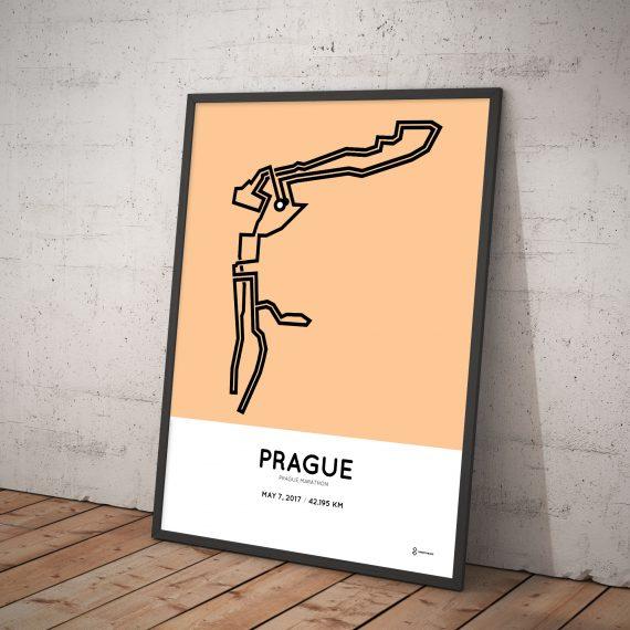 2017 prague marathon course art print