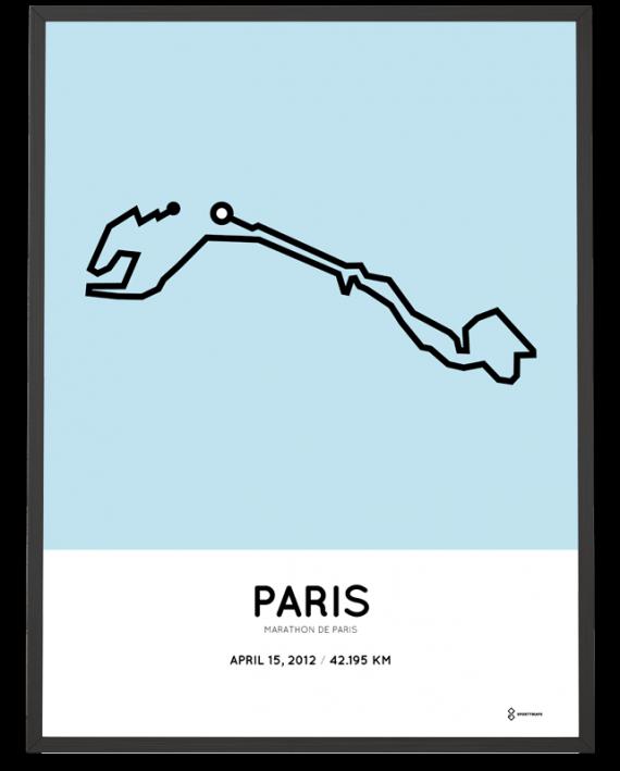 2012 Marathon de Paris route artprint