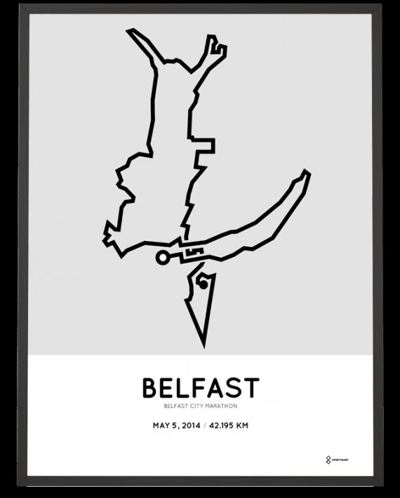 2014 Belfast marathon course poster