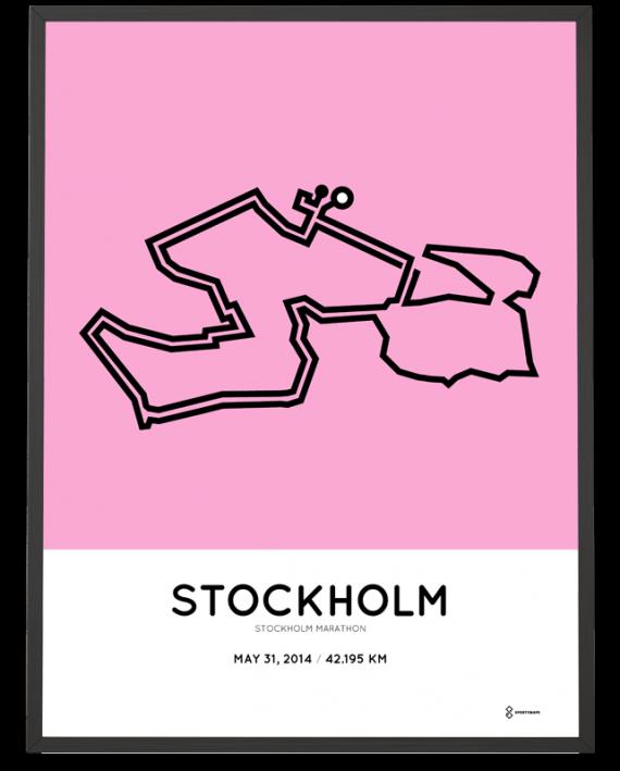 2014 Stockholm marathon course poster