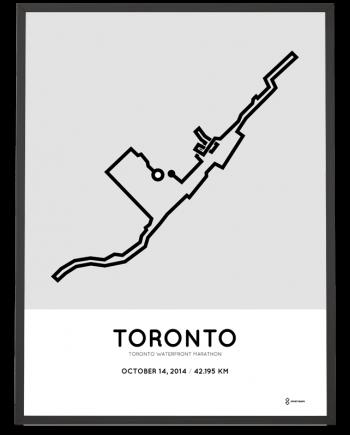 2014 Toronto Waterfront marathon course art print