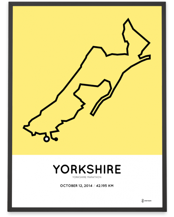 2014 Yorkshire marathon course art poster