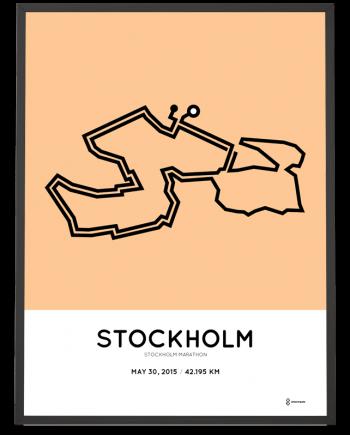2015 Stockholm marathon course poster