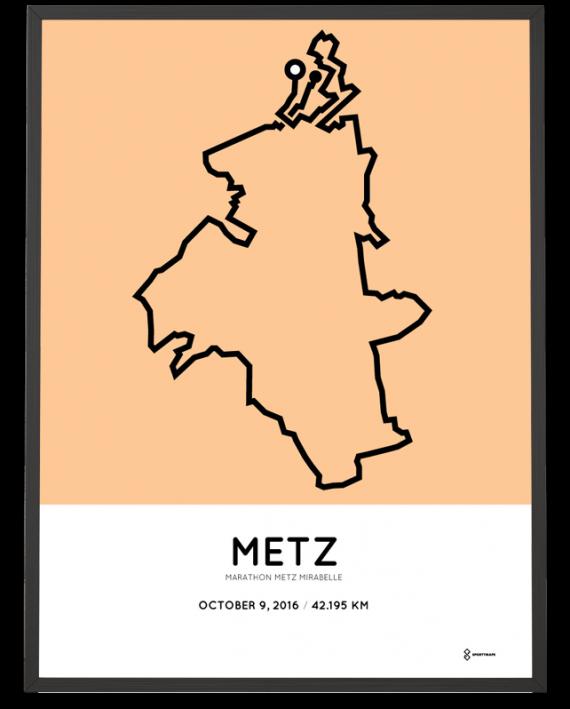 2016 Marathon Metz Mirabelle route print