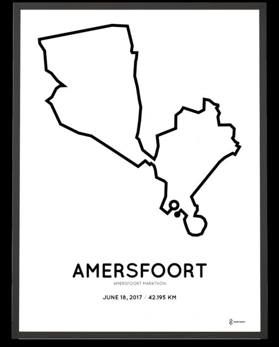 2017 Amersfoort marathon route poster